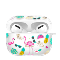 Чехол Kingxbar Fresh для Apple Airpods Pro Flamingo